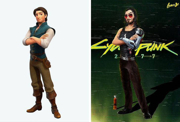 Samuel Chevee designer grafico frances cria personagens da Disney como herois da acao 2