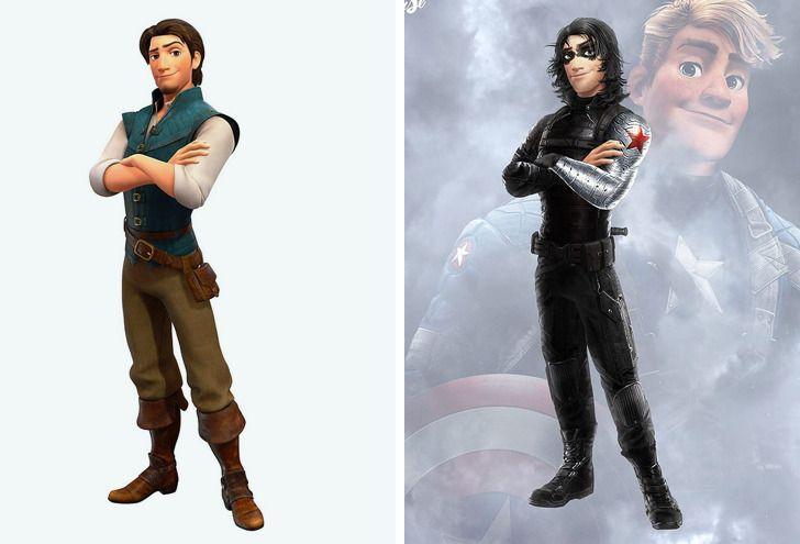 Samuel Chevee designer grafico frances cria personagens da Disney como herois da acao 20