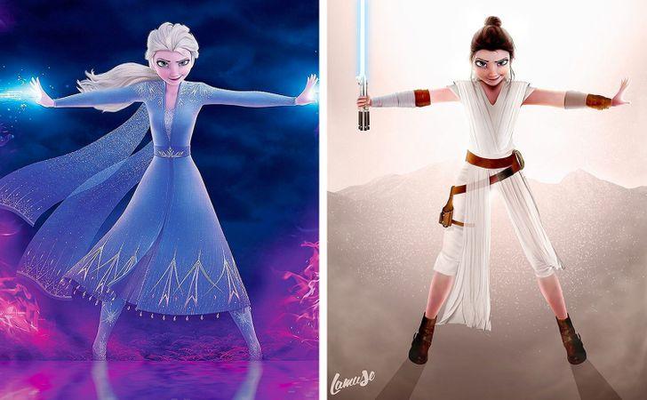 Samuel Chevee designer grafico frances cria personagens da Disney como herois da acao 21