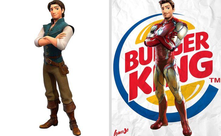 Samuel Chevee designer grafico frances cria personagens da Disney como herois da acao 23