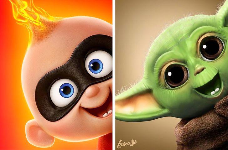 Samuel Chevee designer grafico frances cria personagens da Disney como herois da acao 26