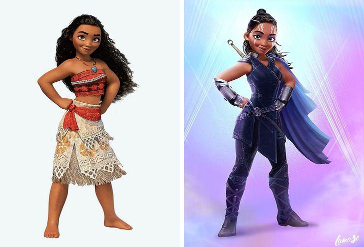 Samuel Chevee designer grafico frances cria personagens da Disney como herois da acao 3