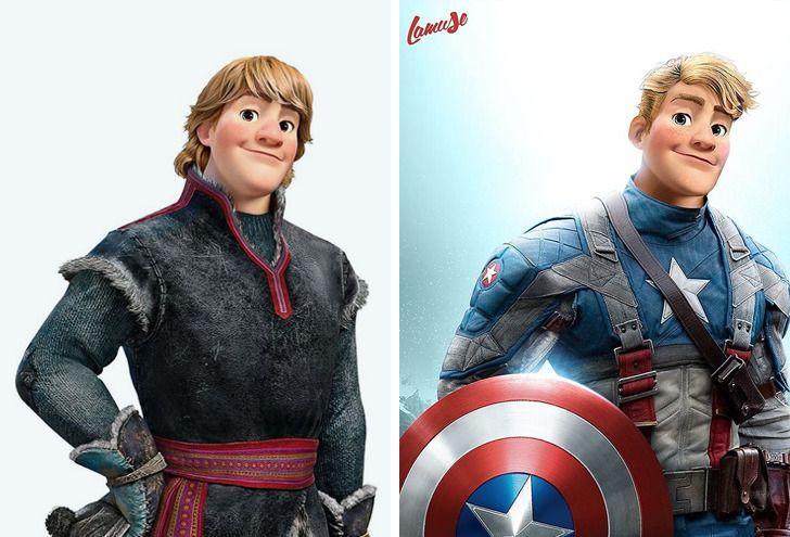 Samuel Chevee designer grafico frances cria personagens da Disney como herois da acao 4