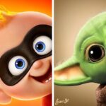 Samuel Chevee designer grafico frances cria personagens da Disney como herois da acao 50