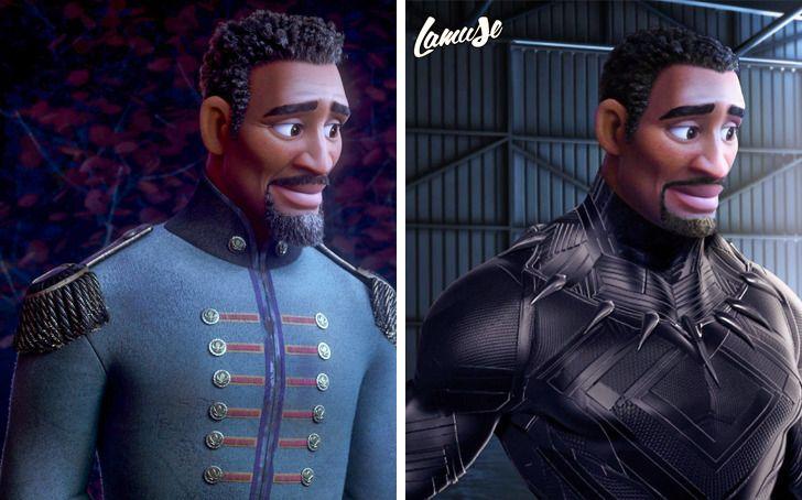 Samuel Chevee designer grafico frances cria personagens da Disney como herois da acao 6