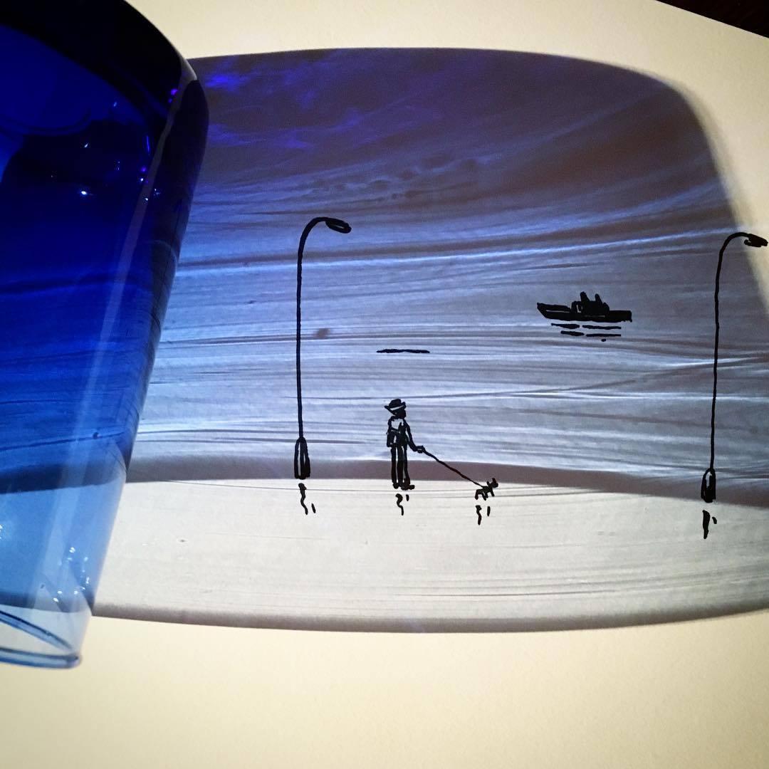 Vincent Bal artista cria ilustracoes com sombras de objetos do cotidiano 100