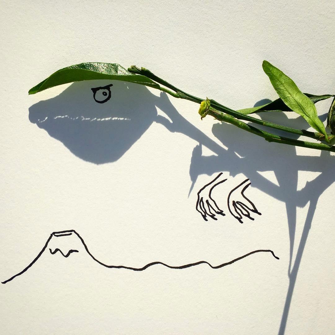 Vincent Bal artista cria ilustracoes com sombras de objetos do cotidiano 11