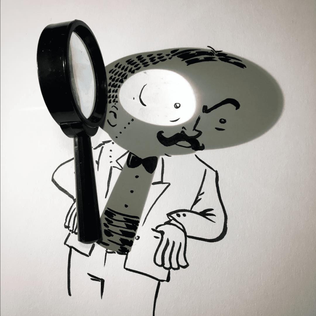Vincent Bal artista cria ilustracoes com sombras de objetos do cotidiano 12
