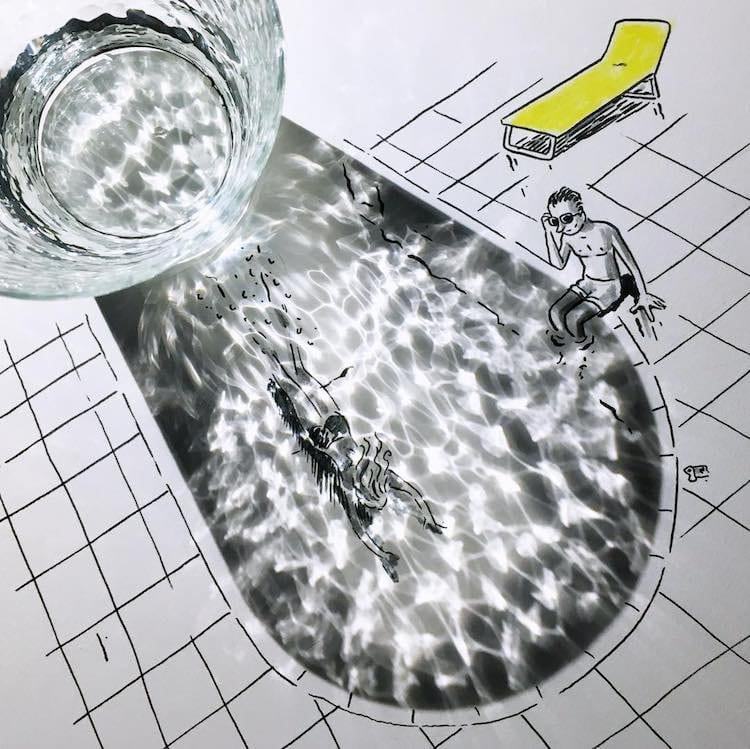 Vincent Bal artista cria ilustracoes com sombras de objetos do cotidiano 15