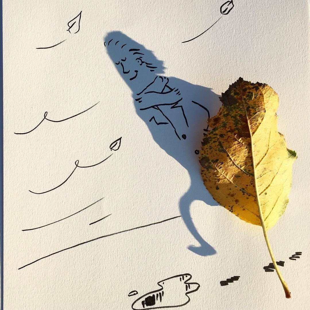 Vincent Bal artista cria ilustracoes com sombras de objetos do cotidiano 3