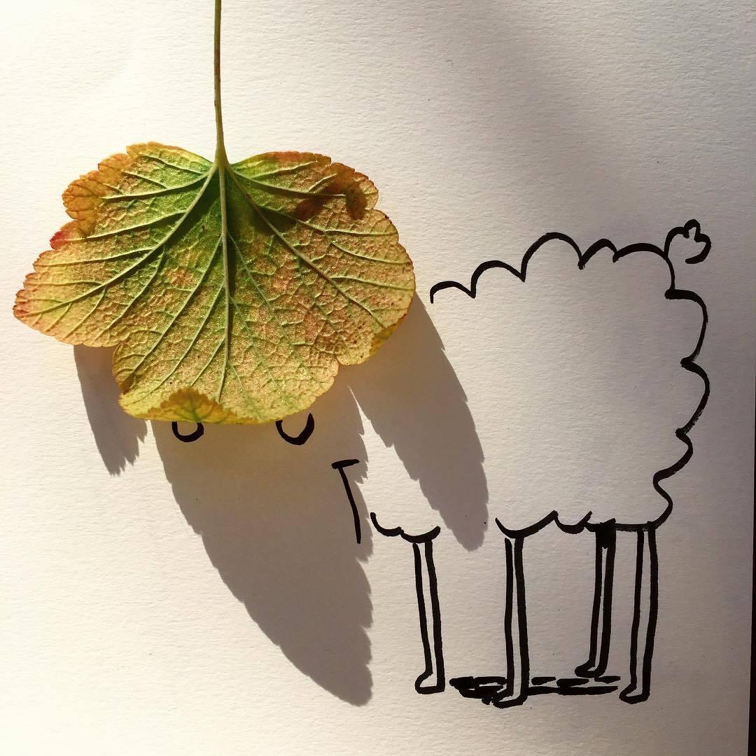 Vincent Bal artista cria ilustracoes com sombras de objetos do cotidiano 5