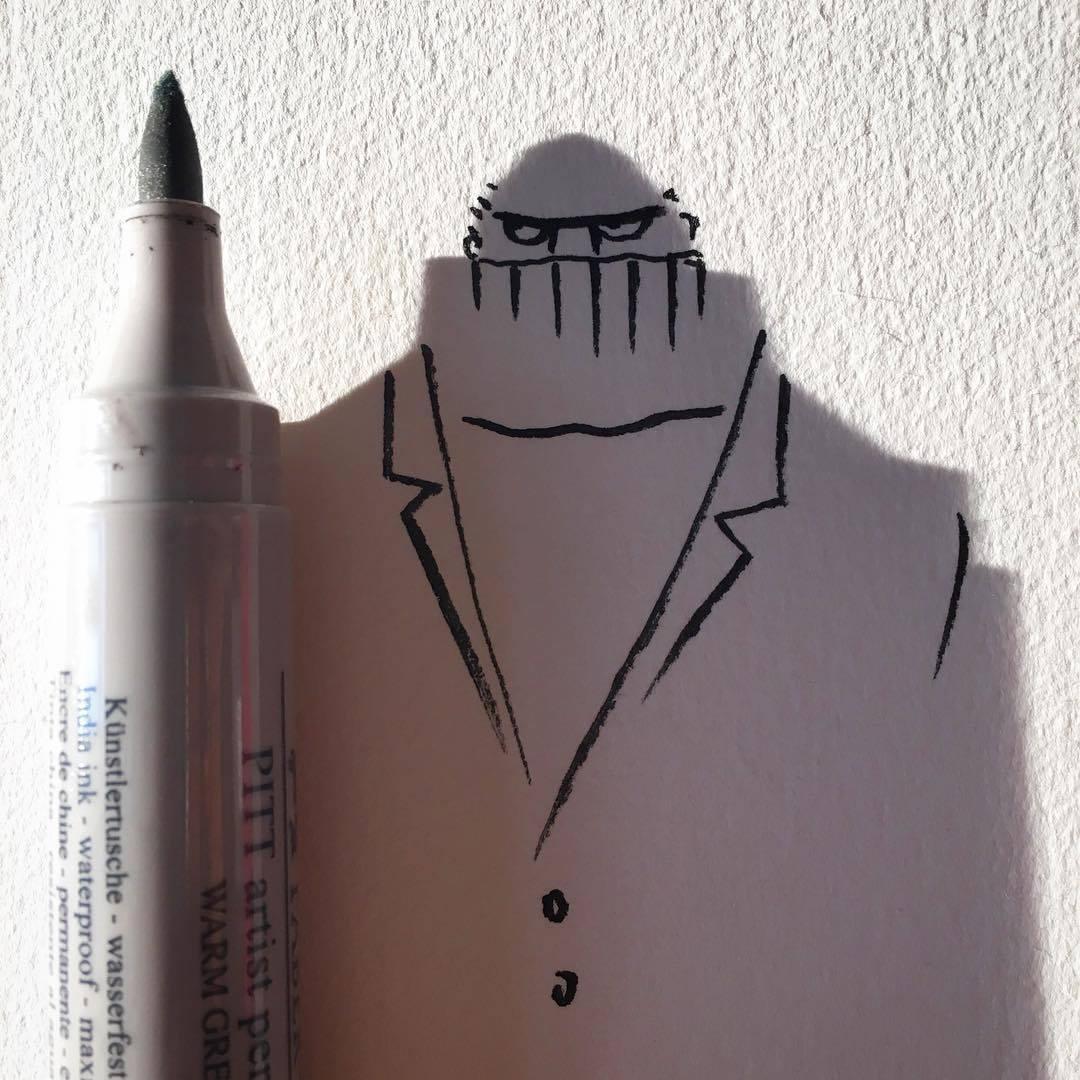 Vincent Bal artista cria ilustracoes com sombras de objetos do cotidiano 6