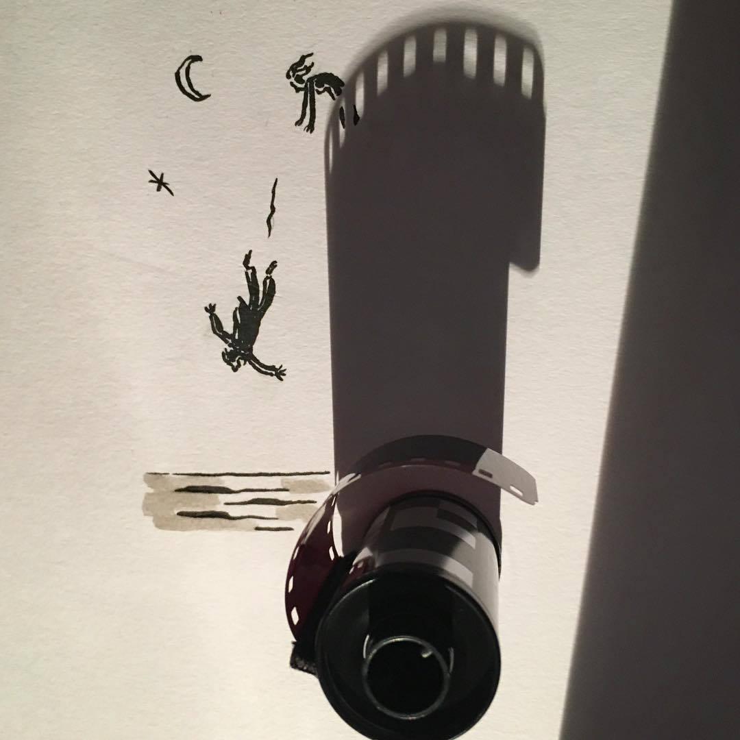 Vincent Bal artista cria ilustracoes com sombras de objetos do cotidiano 7