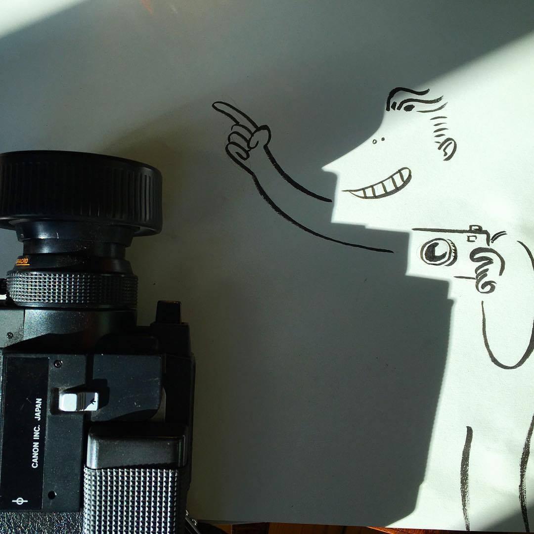 Vincent Bal artista cria ilustracoes com sombras de objetos do cotidiano 8