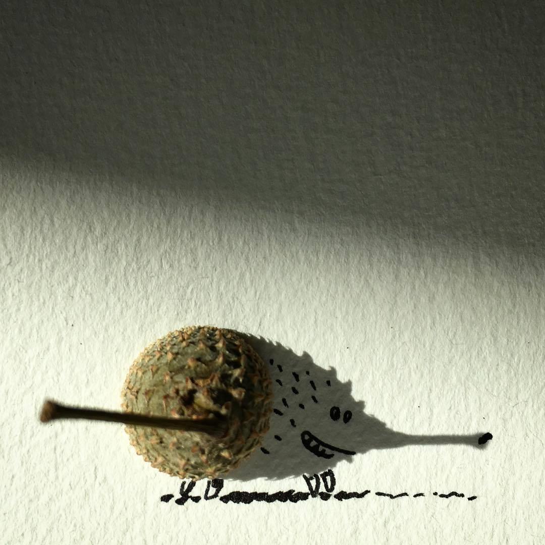Vincent Bal artista cria ilustracoes com sombras de objetos do cotidiano 9