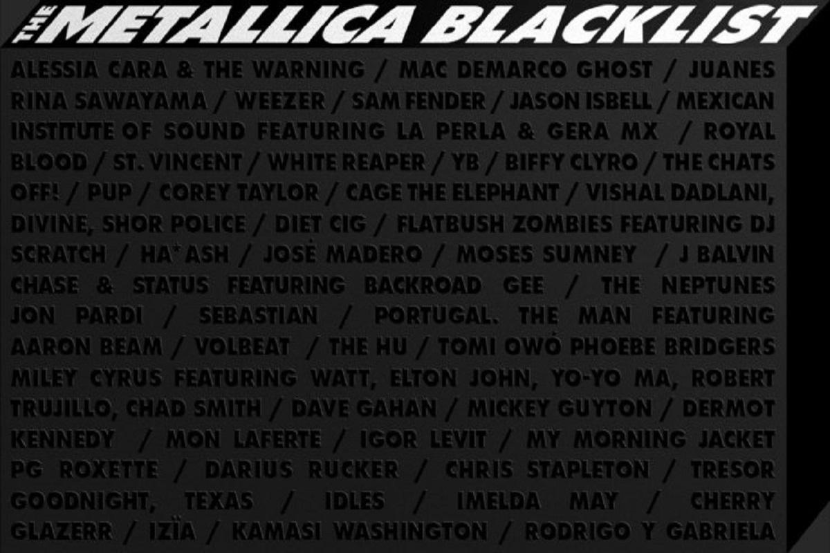 Reedicao do Black Album Metallica contara com 53 artistas no projeto 50