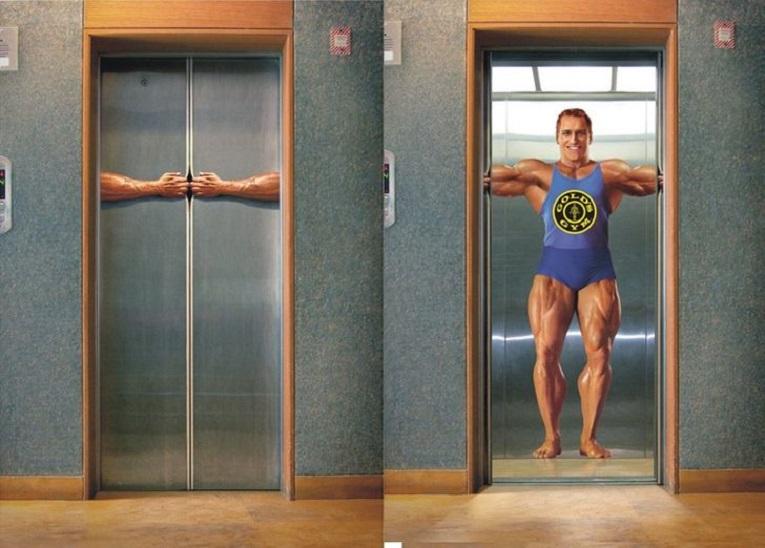 Criativos anuncios em elevadores 1