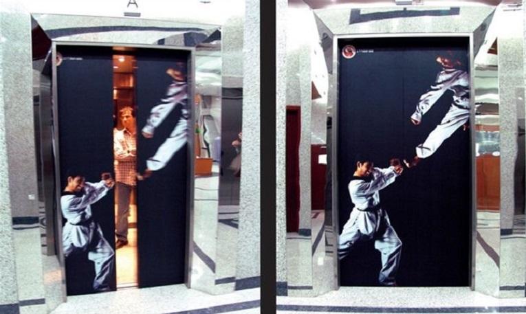 Criativos anuncios em elevadores 8