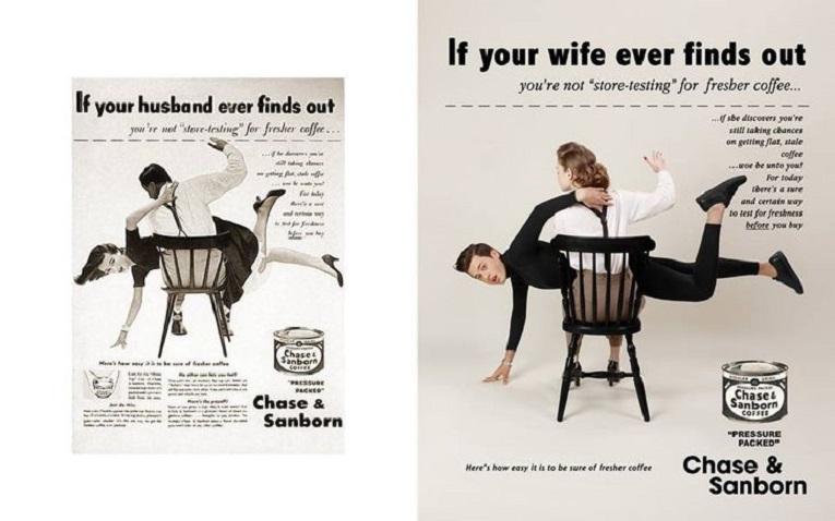Eli Rezkallah fotografo recria propagandas machistas dos anos 50 2