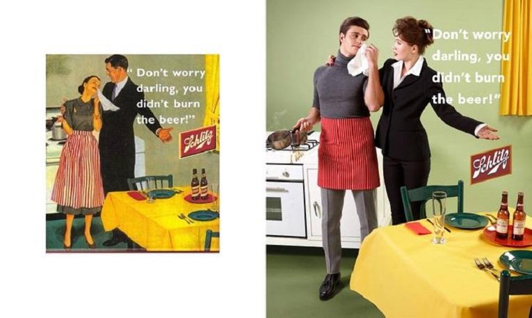 Eli Rezkallah fotografo recria propagandas machistas dos anos 50 3