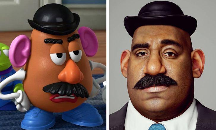Hossein Diba artista cria versao real de personagens de desenho 7