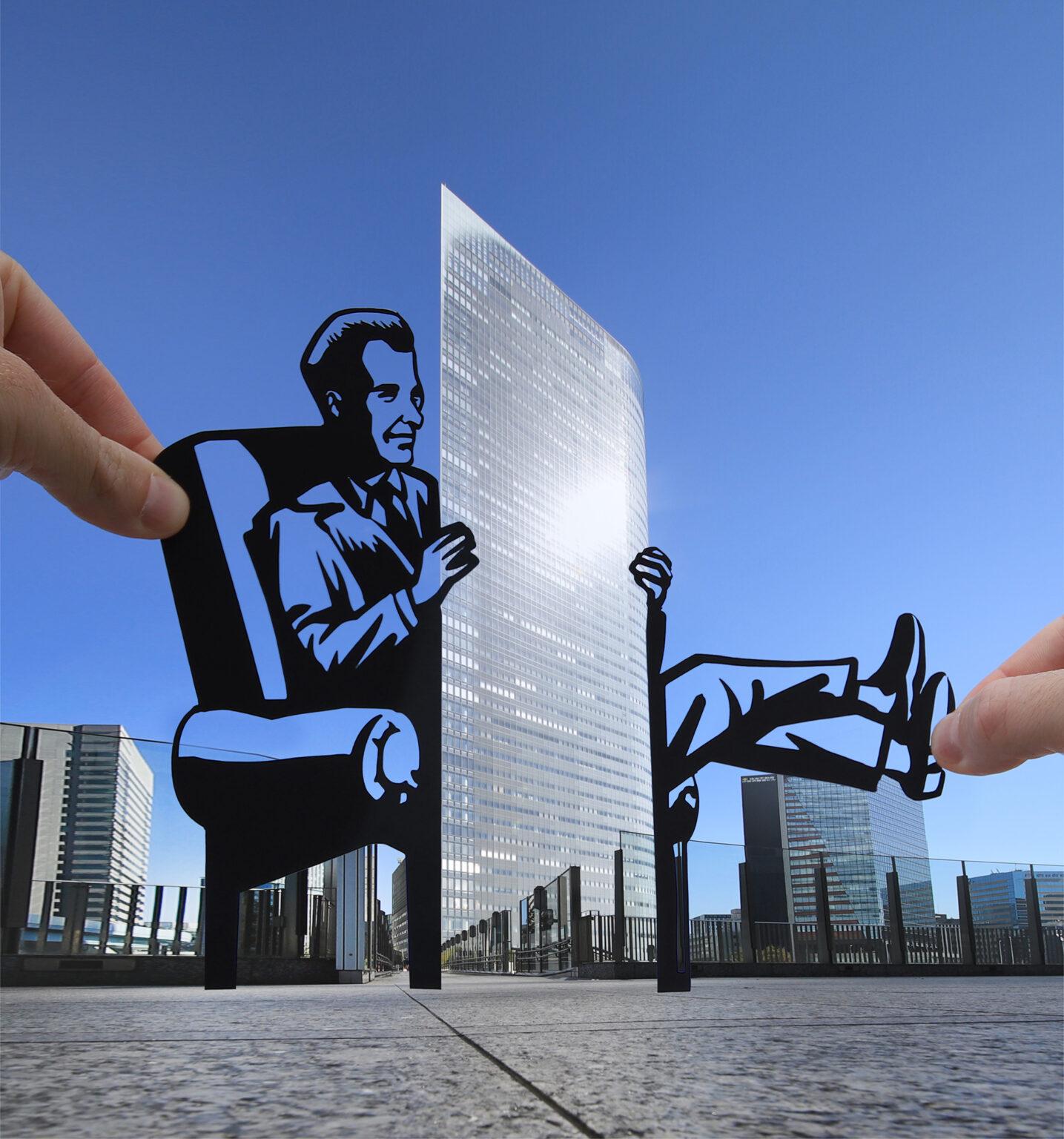 Paperboyo artista cria cenas divertidas com recortes de papel em arquitetura 1