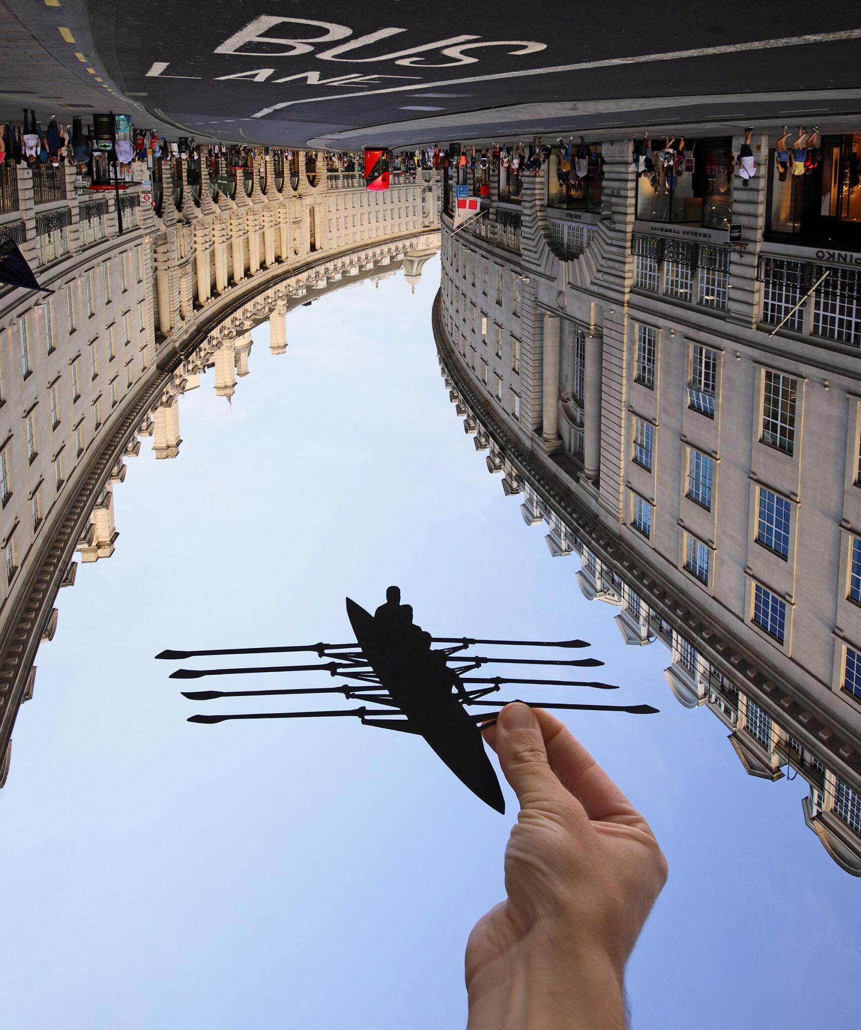 Paperboyo artista cria cenas divertidas com recortes de papel em arquitetura 3
