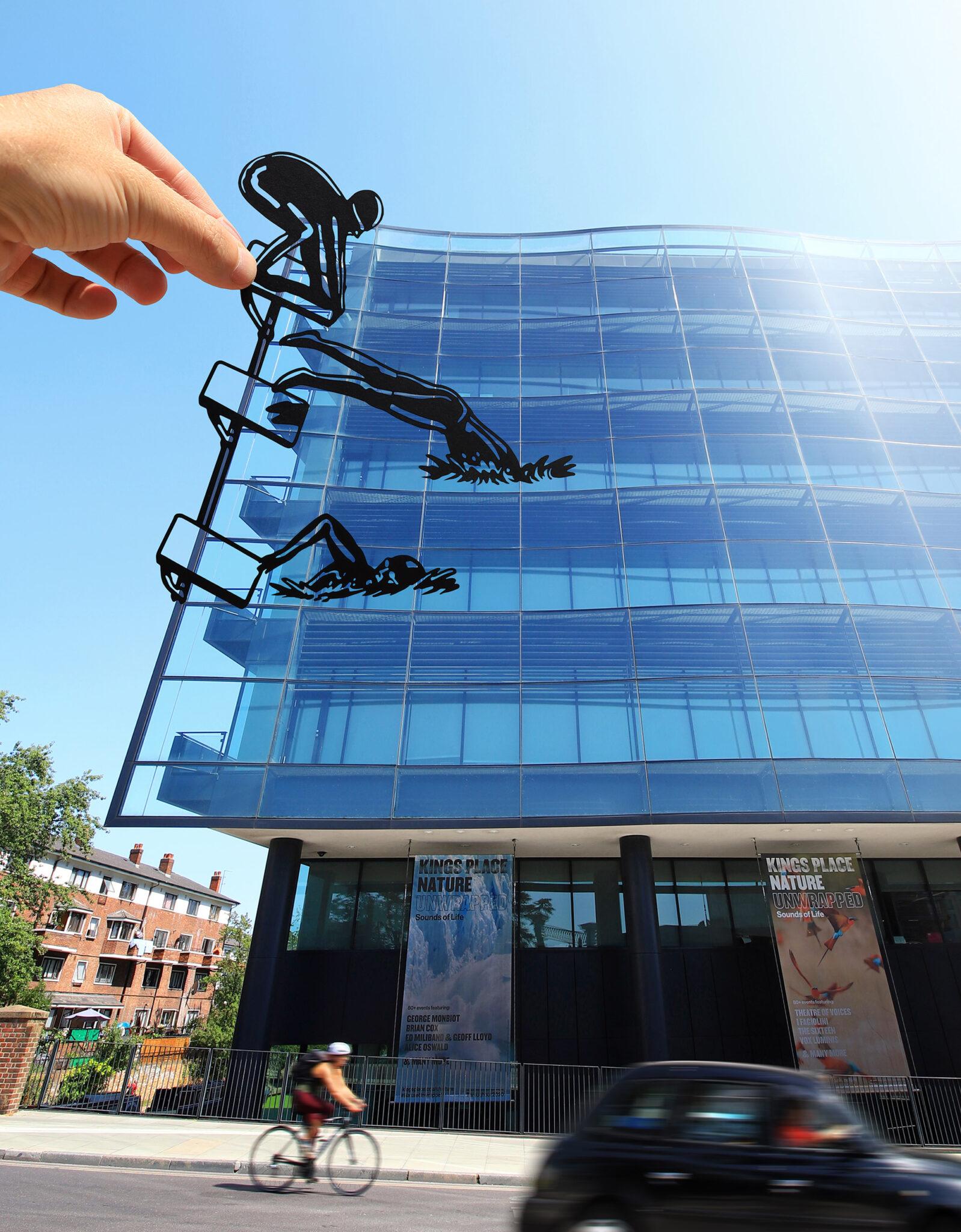 Paperboyo artista cria cenas divertidas com recortes de papel em arquitetura 4