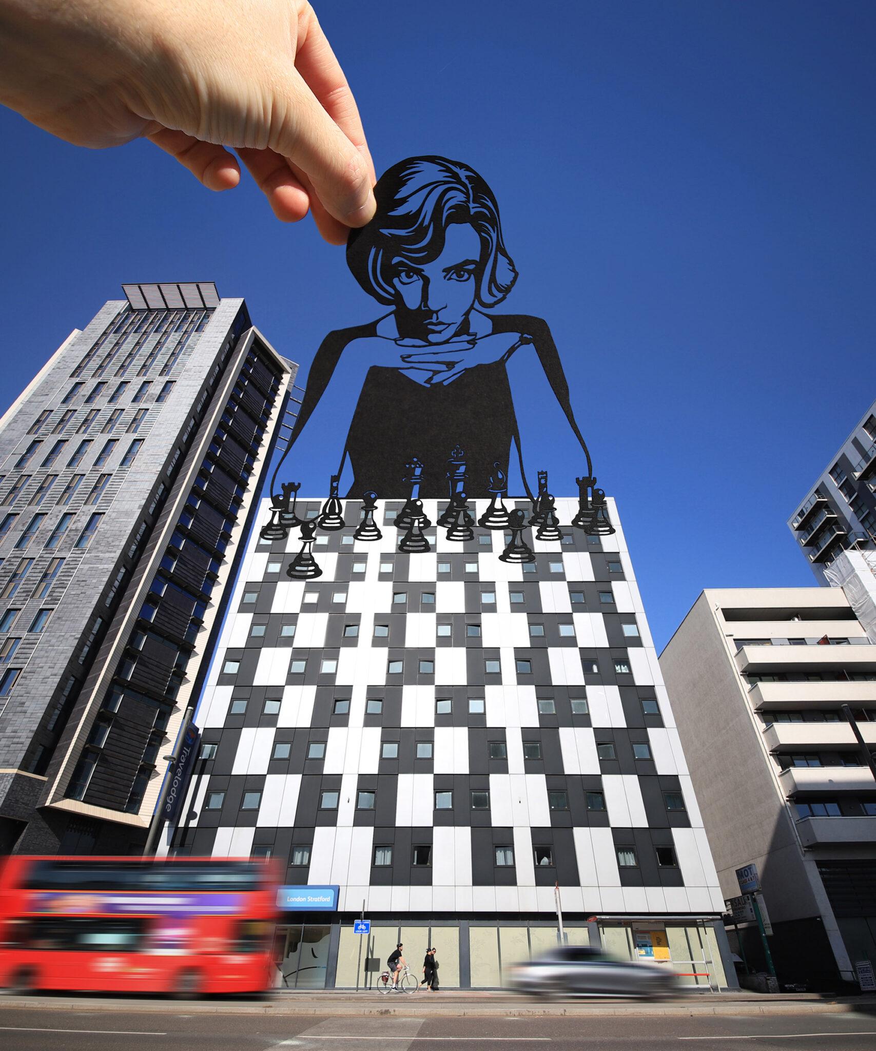 Paperboyo artista cria cenas divertidas com recortes de papel em arquitetura 7