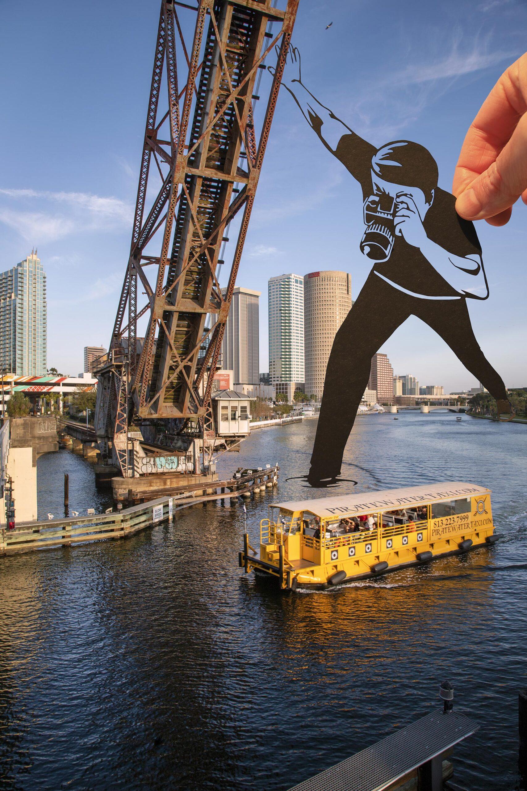 Paperboyo artista cria cenas divertidas com recortes de papel em arquitetura 8