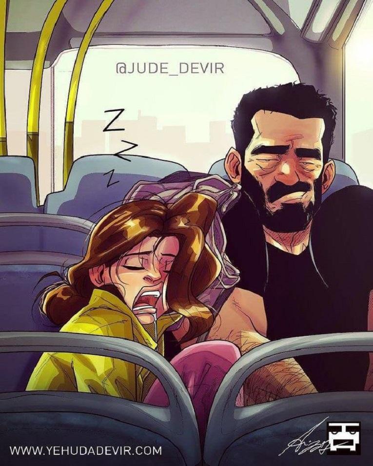 Yehuda Devir artista cria ilustracoes sobre relacionamento a dois 12