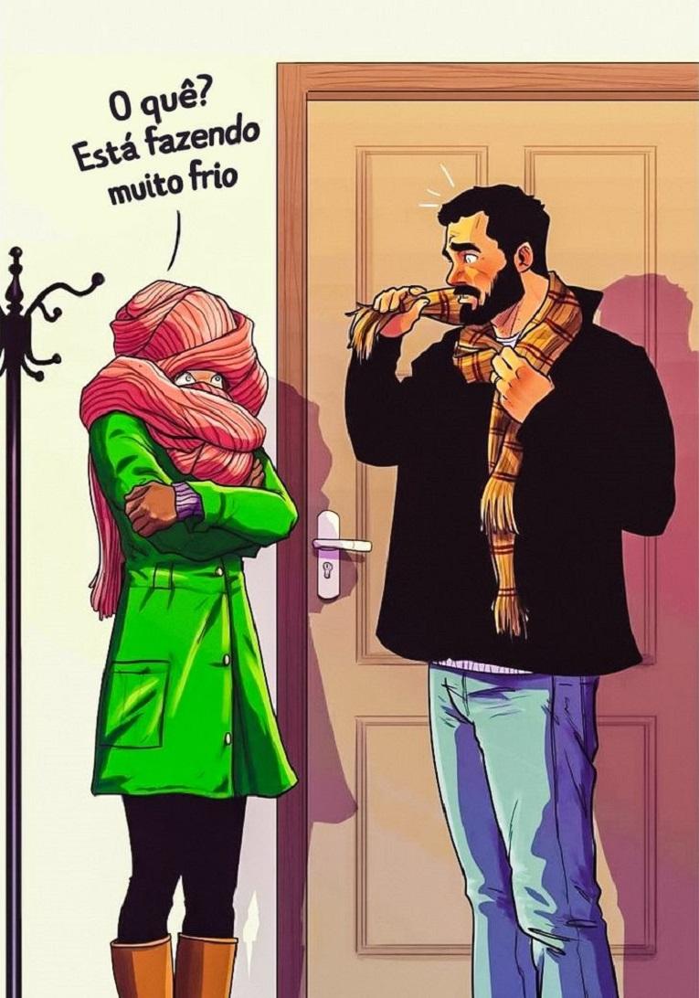 Yehuda Devir artista cria ilustracoes sobre relacionamento a dois 13