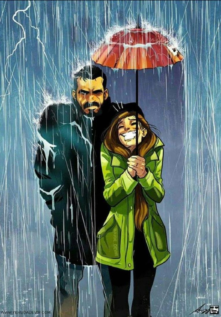 Yehuda Devir artista cria ilustracoes sobre relacionamento a dois 7