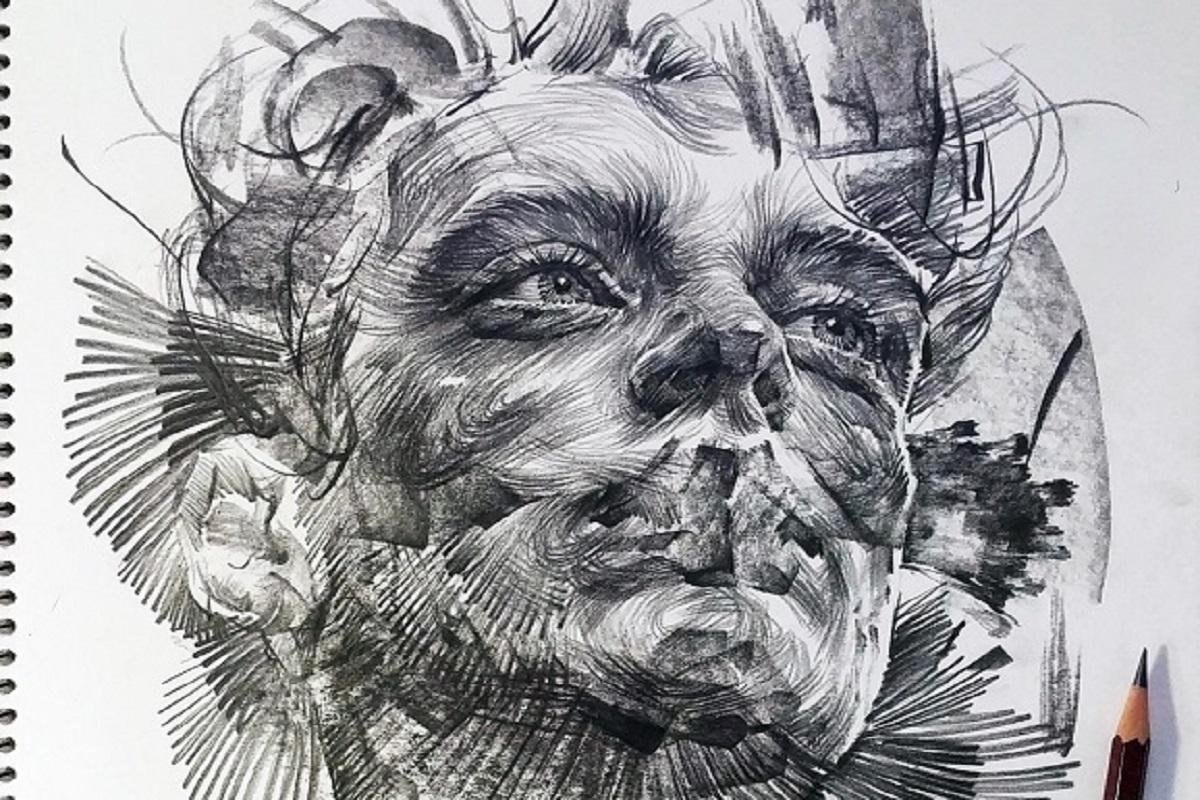 leekillust artista coreano cria retratos dinamicos com carvao lapis e tinta CAPA