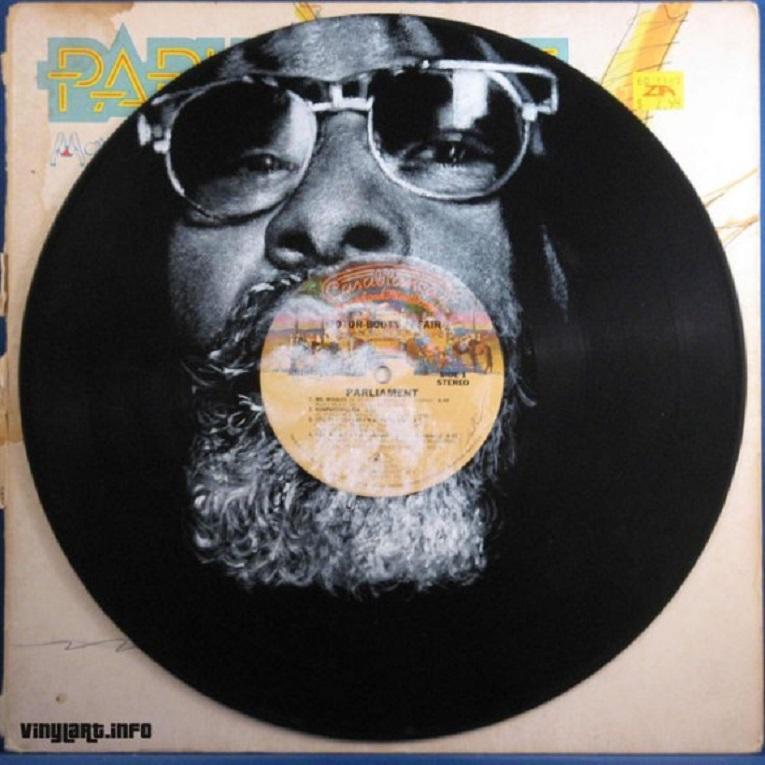 Daniel Edlen artista pinta musicos em discos de vinil 11