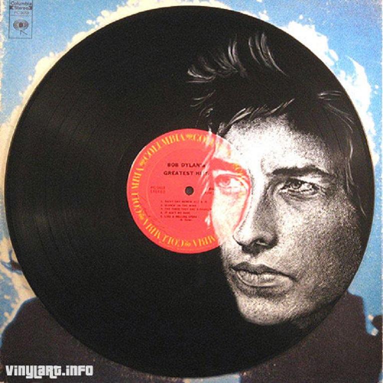 Daniel Edlen artista pinta musicos em discos de vinil 13