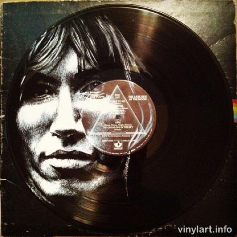 Daniel Edlen artista pinta musicos em discos de vinil 14