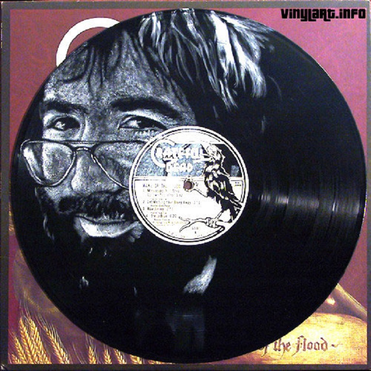 Daniel Edlen artista pinta musicos em discos de vinil 18