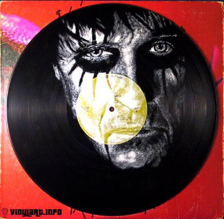 Daniel Edlen artista pinta musicos em discos de vinil 19
