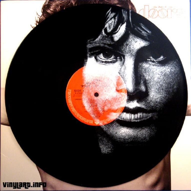 Daniel Edlen artista pinta musicos em discos de vinil 22