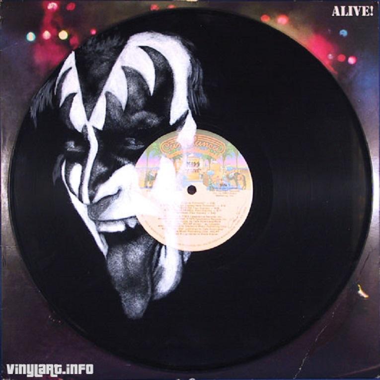 Daniel Edlen artista pinta musicos em discos de vinil 25