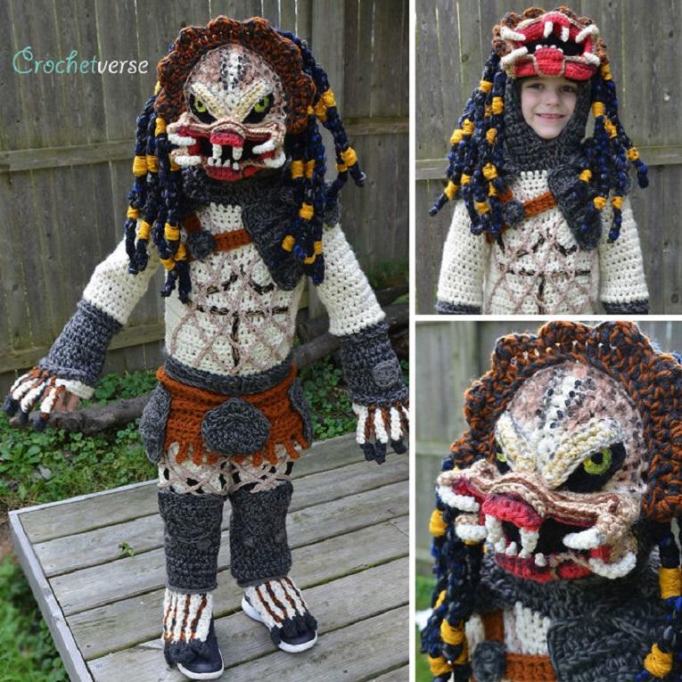Halloween fantasias de croche que Stephanie Pokorny criou para seus filhos 2