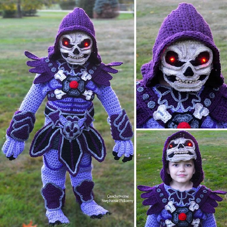 Halloween fantasias de croche que Stephanie Pokorny criou para seus filhos 4