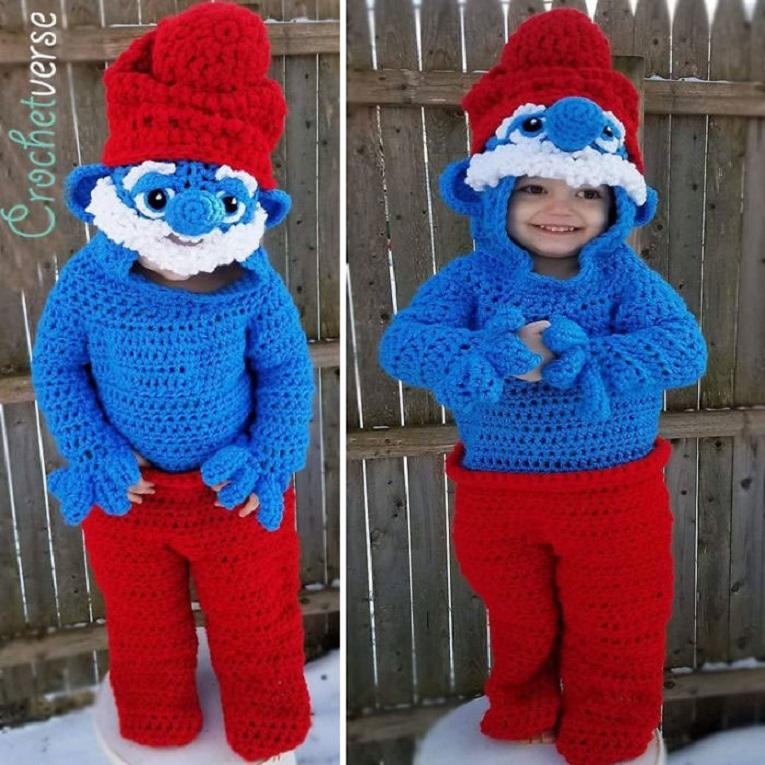 Halloween fantasias de croche que Stephanie Pokorny criou para seus filhos 7