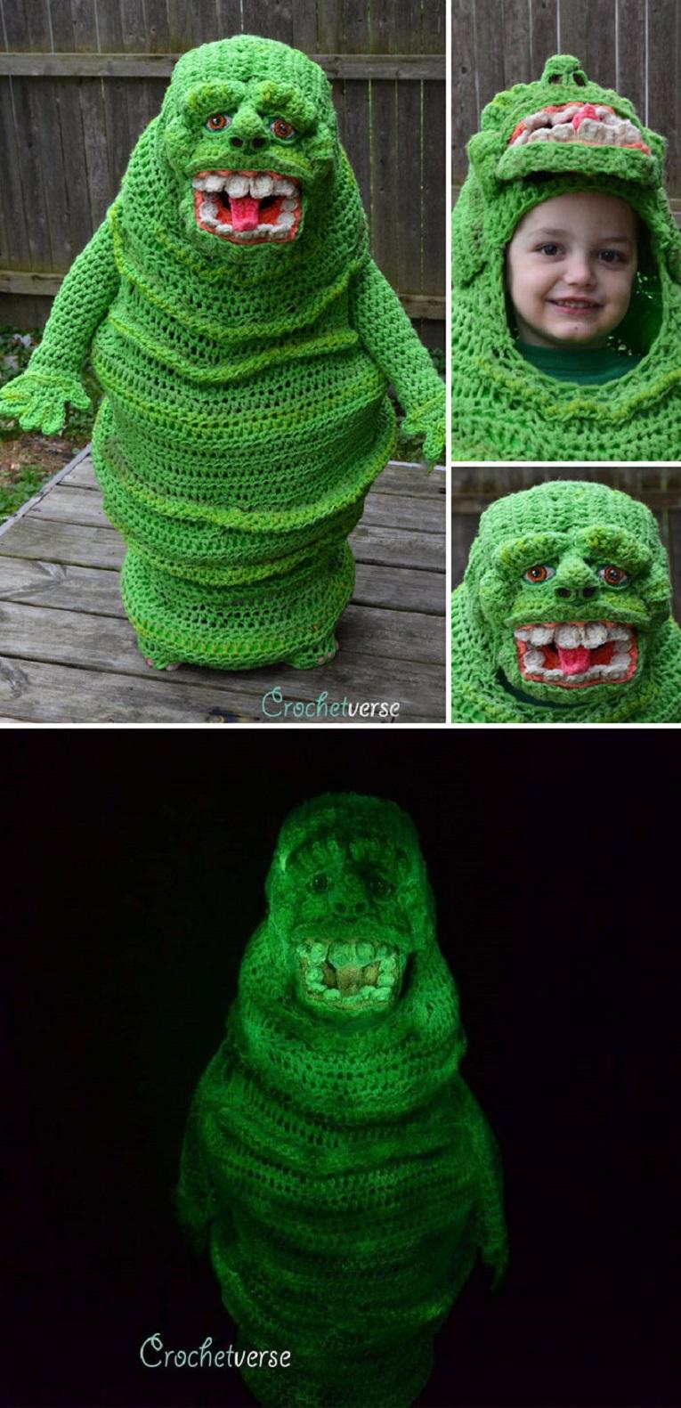 Halloween fantasias de croche que Stephanie Pokorny criou para seus filhos 9