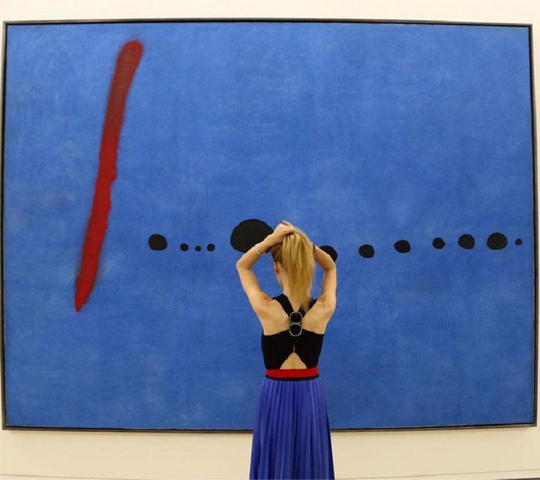 Roupas e pinturas identicas em galerias de arte 25