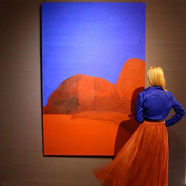 Roupas e pinturas identicas em galerias de arte 5