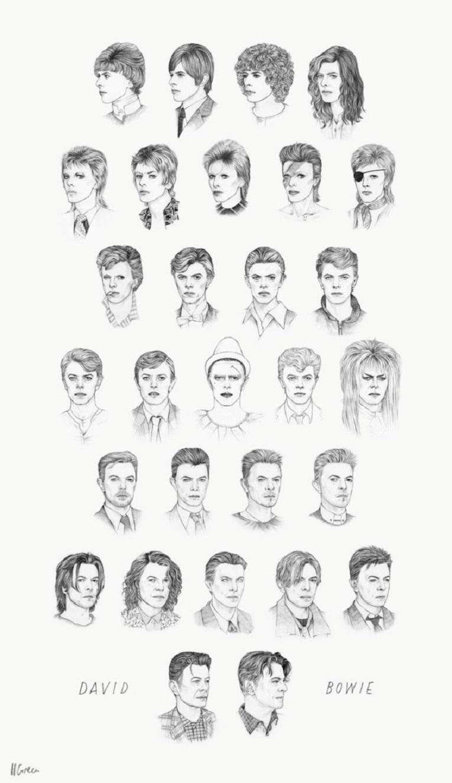 Todos os estilos de David Bowie em um unico GIF 2