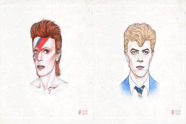 Todos os estilos de David Bowie em um unico GIF CAPA
